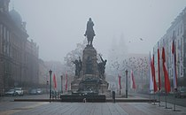 Battle of Grunwald monument and Tomb of the Unknown Soldier, Matejko Square, Kraków, Poland.jpg