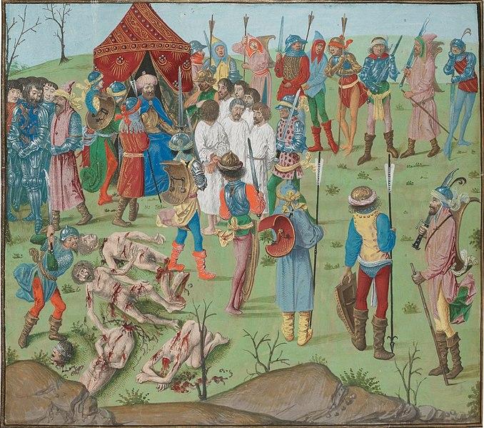 File:Battle of Nicopol aftermath Thr masacreofthecristians revenge for rahova massacre.jpg