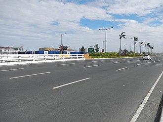 Jose Diokno Boulevard - On the southbound lane of Jose Diokno Boulevard looking towards Entertainment City