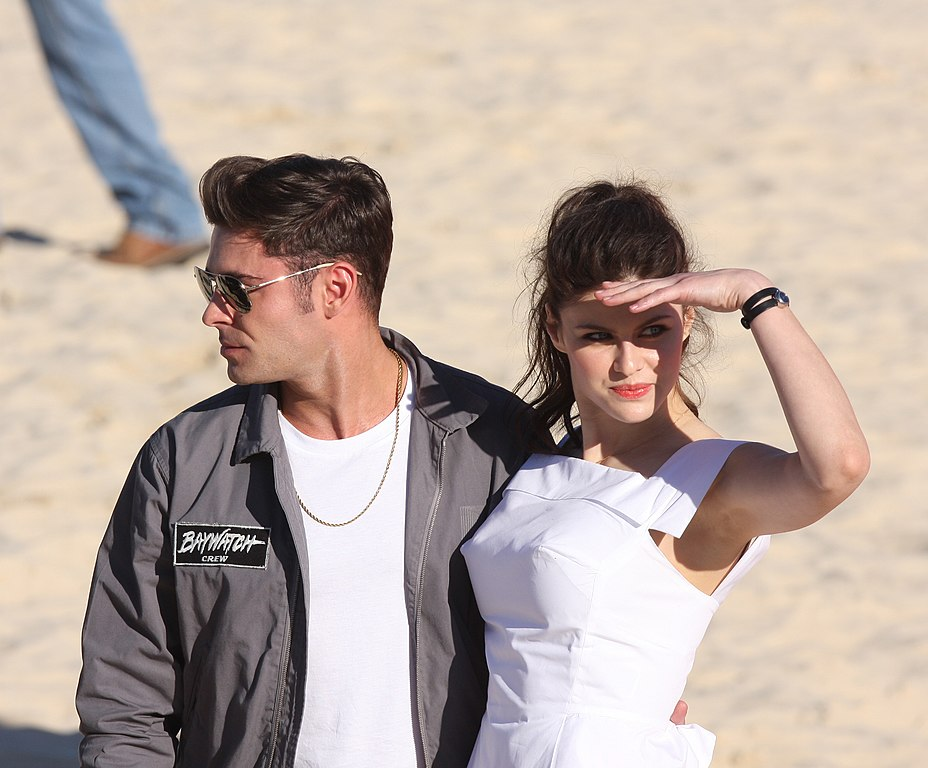 File:Baywatch Movie Launch Zac Efron, Alexandra Daddario