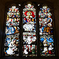 Beauchamp Roding - St Botolph's Church - Essex England - tower 15th-century west window.jpg