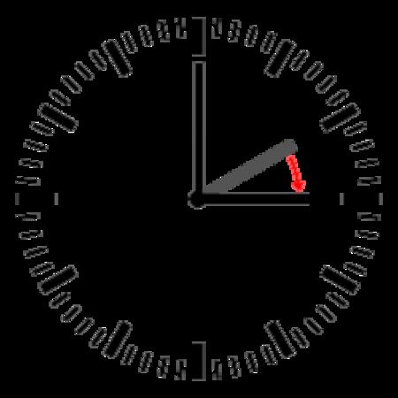 رسم لساعة يظهر.