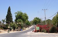 Beith Hagadi street in the Moshav.jpg