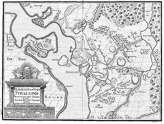 Siege of Stralsund (1711–15) - Image: Belagerung von Stralsund 1711 bis 1712