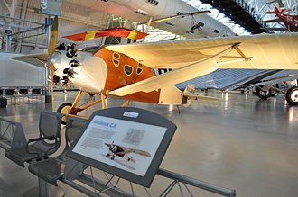 Victor Roos - The only Bellanca CF built, at the National Air and Space Museum