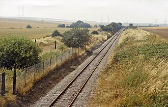 Beluncle Halt railway station - Site of the station in 1983
