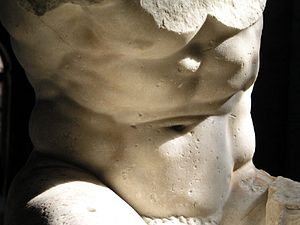 Hellenistic art - A detail of the Belvedere Torso.