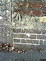 Benchmark at wall junction of ^9 Prince of Wales Road - geograph.org.uk - 2084814.jpg