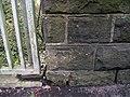 Benchmark on Mow Lane - geograph.org.uk - 2092649.jpg