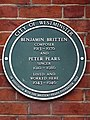 Benjamin Britten composer 1913-1976 and Peter Pears singer 1910-1986 lived and worked here 1943-1946.jpg