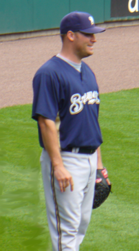 Image of Ben Sheets before a game in St. Louis. Ben Sheets was on the disabled list at time of photo