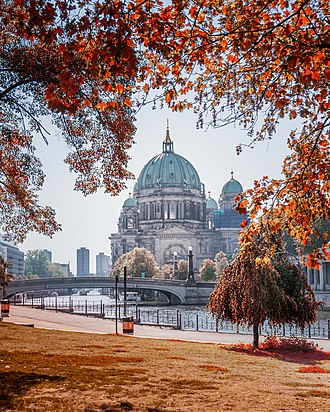 The Berlin Cathedral at Museum Island Berliner Dom seen from James Simon Park.jpg