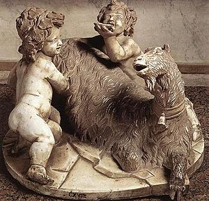 The Goat Amalthea with the Infant Jupiter and a Faun - Image: Bernini goat with infants