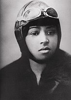Coleman's photograph used in her aviation license issued on June 15, 1921