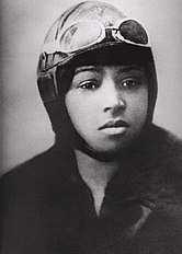 Bessie Coleman's photograph used in her aviation license issued on June 15, 1921