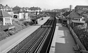 Bexleyheath railway station - View eastward, towards Dartford in 1961