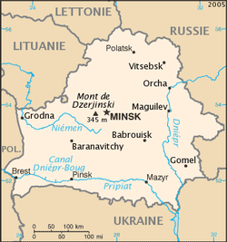 carte bielorussie