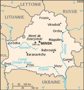 carte europe bielorussie