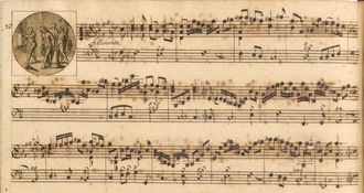 Manuscrit de la septième sonate du Rosaire