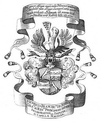 Heinrich Ignaz Franz Biber - Image: Biber armoiries