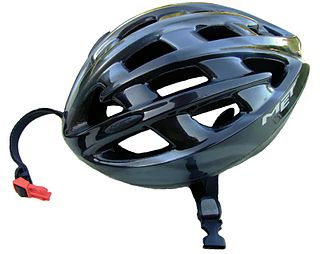 helmet for people on bicycles intended to reduce injuries in the event of a collision or crash