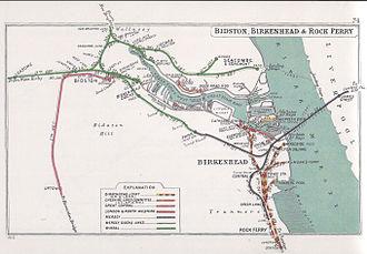 Birkenhead Railway - Image: Bidston, Birkenhead & Rock Ferry RJD 74