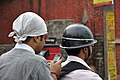 Bikers with Mobile Phone - Barrackpore 2012-04-11 9527.JPG
