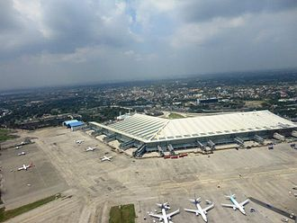 Airport - Birds eye view of the Kolkata Airport  Terminal 2