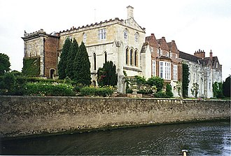 Bishopthorpe Palace - Bishopthorpe Palace viewed from the Ouse, 1995