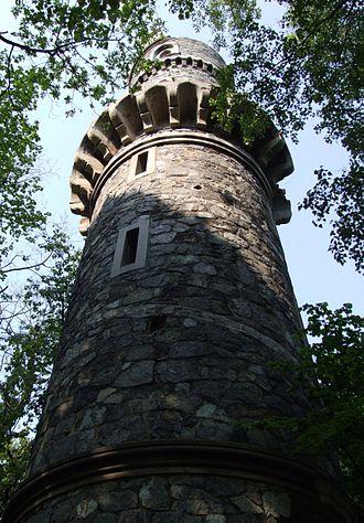 Bismarck tower - First Bismarck Tower in Janówek, Poland (formerly Ober-Johnsdorf, Lower Silesia, Germany), built in 1869