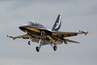 KAI T-50 Golden Eagle - A T-50B of the Black Eagles aerobatic team in 2012