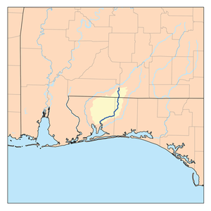Blackwater River (Florida) - Image: Blackwaterflrivermap