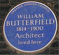 Blue plaque William Butterfield.jpg
