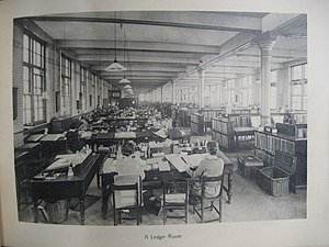Blythe House - Image: Blythe House ledger room 1924