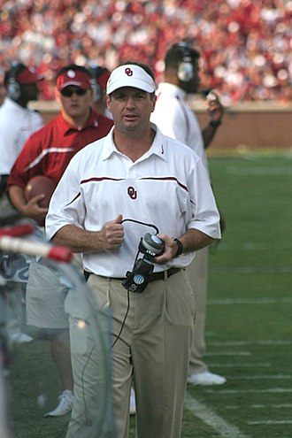 Bob Stoops - Stoops paces the sideline