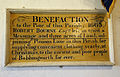 Bobbingworth, Essex, England - St Germain's Church interior - Bourne benefaction plaque.JPG