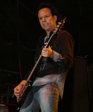 Bobby Dall - Dall live with Poison on July 11, 2008 at the Moondance Jam