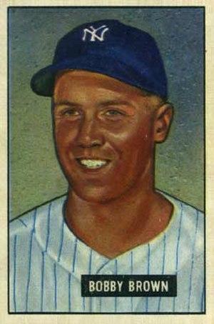 Bobby Brown (third baseman) - Image: Bobby Brown 1951