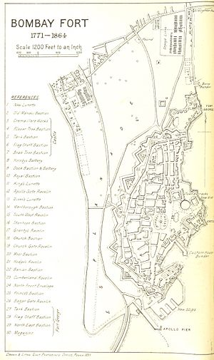 History of Bombay under British rule - Bombay Fort 1771-1864