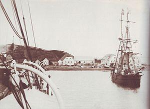 Borðeyri - The town of Borðeyri in 1883