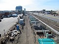 Boston Landing station construction, April 2016.JPG
