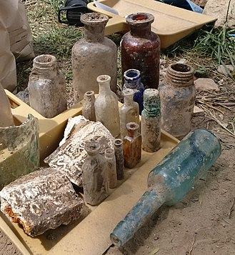 Niagara Apothecary - Bottles excavated at the site in June 2016