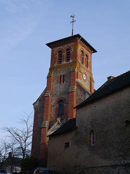 Le clocher de l'église Saint-Martin.