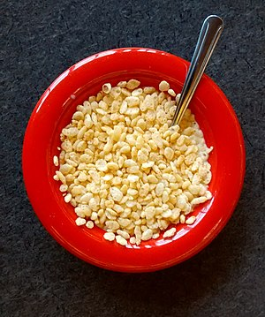 Rice Krispies - A bowl of Rice Krispies