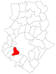 Location in Ilfov County