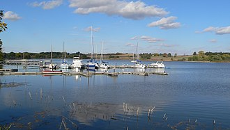 Branched Oak State Recreation Area - Image: Branched Oak Lake marina 2