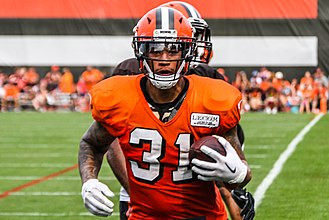 Brandon Wilds - Wilds at Cleveland Browns training camp in 2017