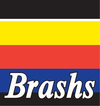 Brashs - Australian music retail chain Brashs logo from 1980s and 1990s.