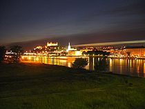 Bratislava View From Petrzalka Old City Part.jpg