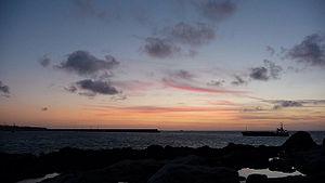 Braye Harbour - Braye Harbour at sunset